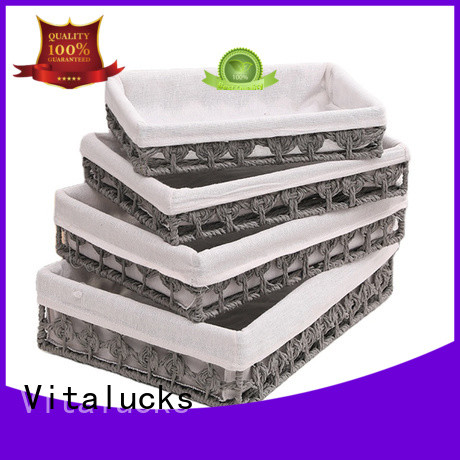 Vitalucks lined storage baskets for shelves favorable price manufacturing