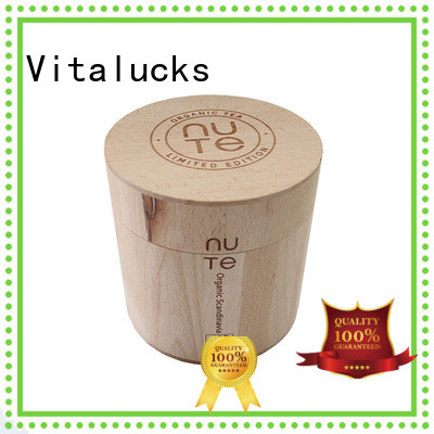 Vitalucks wooden tea canister multi-functional bulk supply