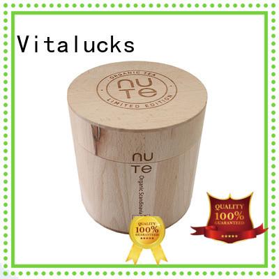Vitalucks wooden tea canister multi-functional bulk supply