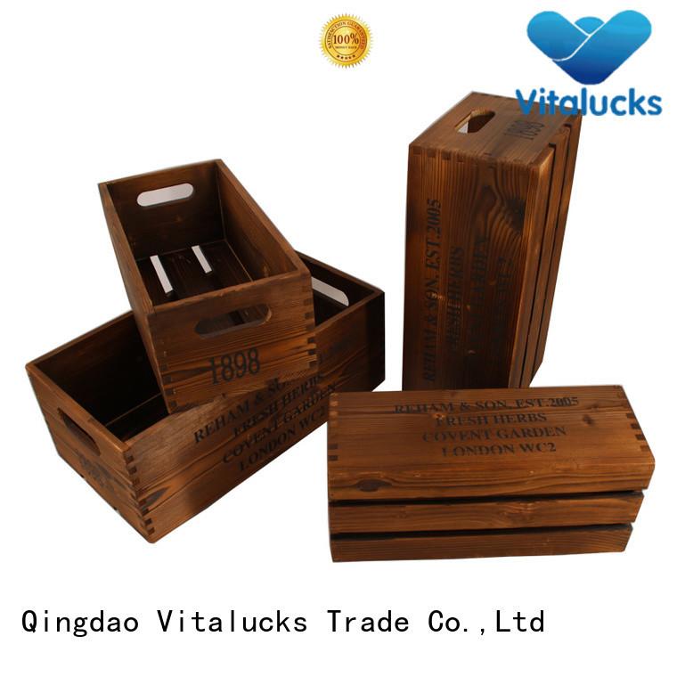 wooden crate box for pakaging Vitalucks