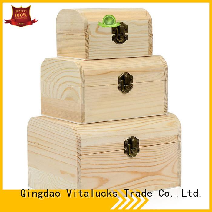 Vitalucks wooden gift boxes wholesale quality assured latest design