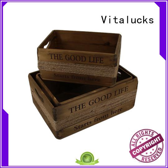 Vitalucks wooden wine crates popular best factory price