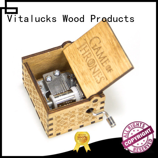 adjustable wooden music box wholesale simple construction