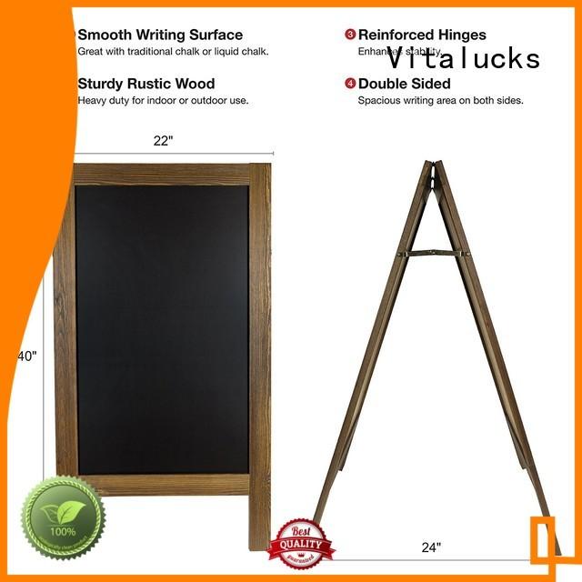 Vitalucks latest wooden blackboard solid wholesale supply