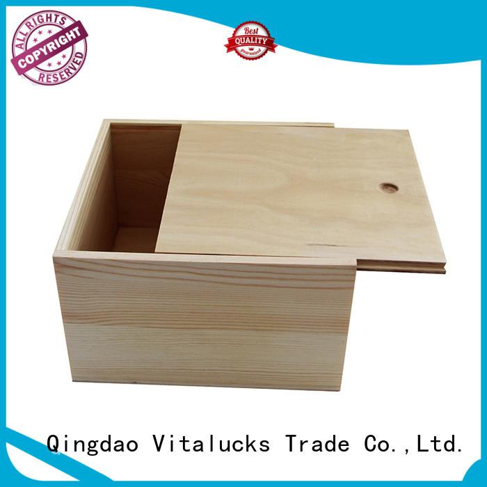 Vitalucks custom wooden gift boxes wholesale quality assured