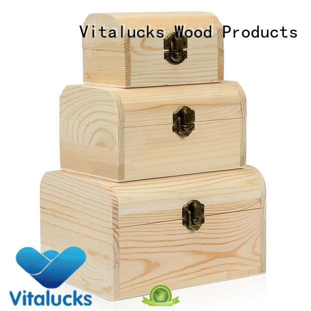 Vitalucks wooden gift boxes wholesale quality assured