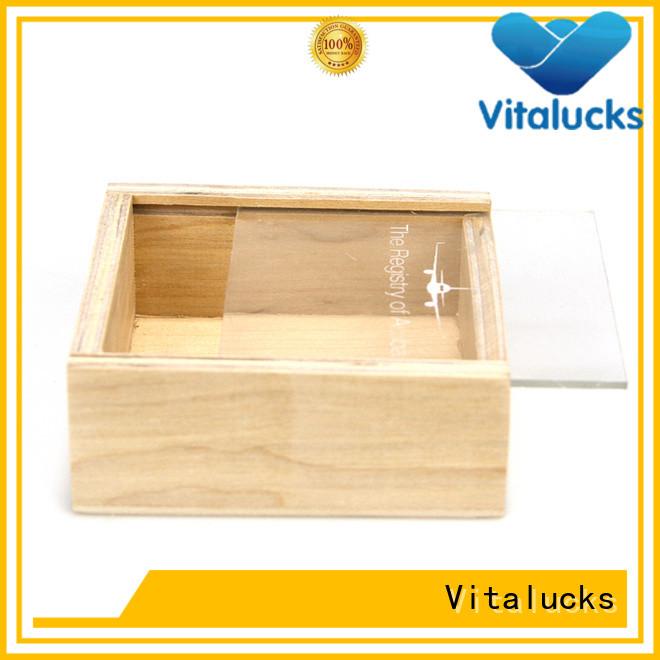 Vitalucks custom wooden boxes favorable price supply