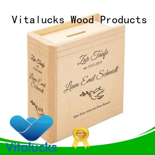 Vitalucks custom custom wooden gift box wholesale