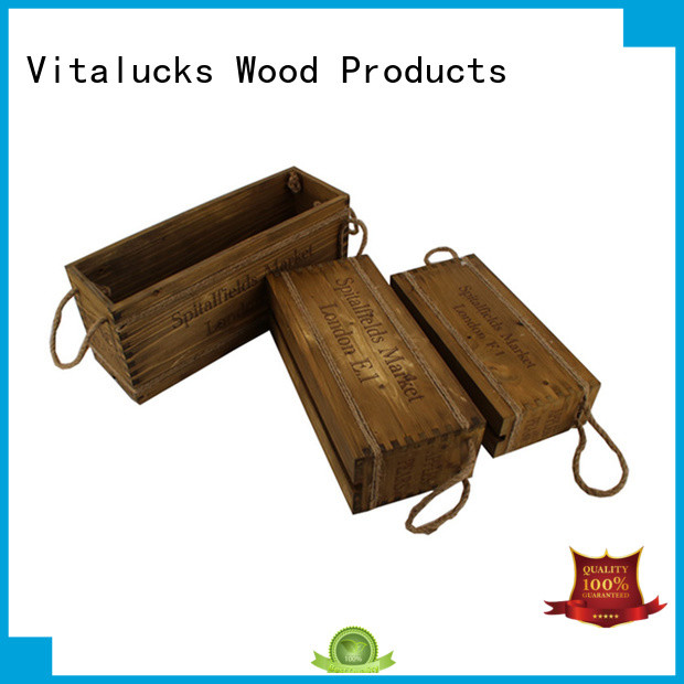 Vitalucks wooden wine crates high quality fast delivery
