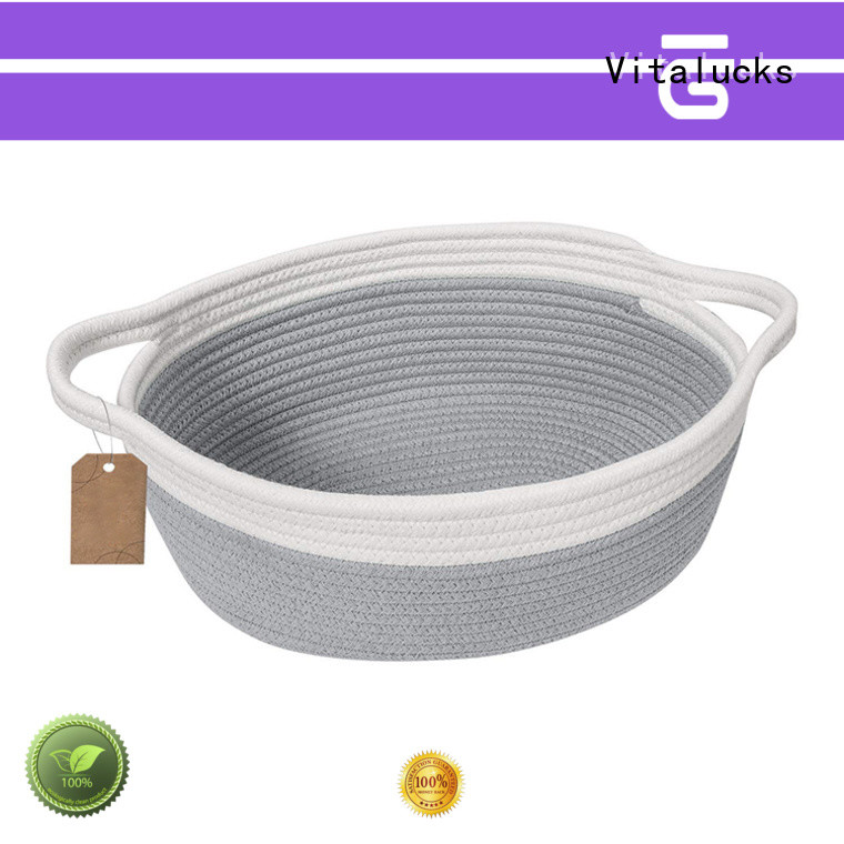 Vitalucks cotton rope basket high qualtiy customizaition