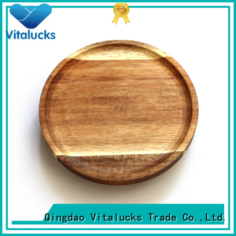Vitalucks wholesale round wooden lids manufacturing