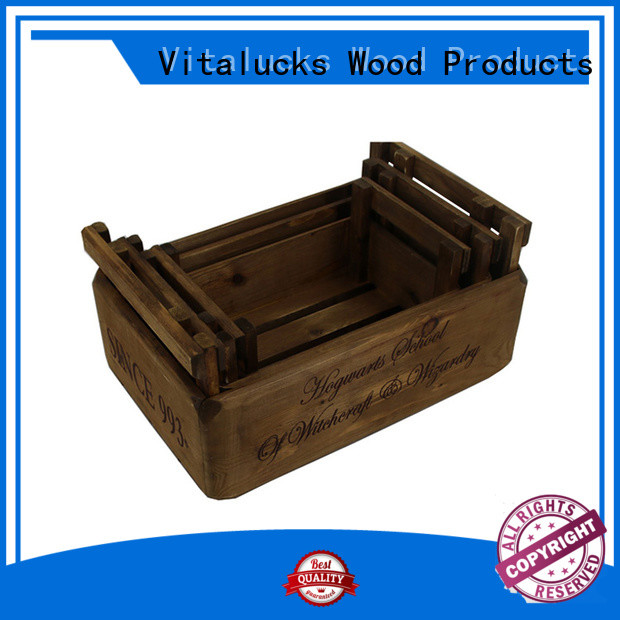 Vitalucks solid decorative wooden crates high quality best factory price
