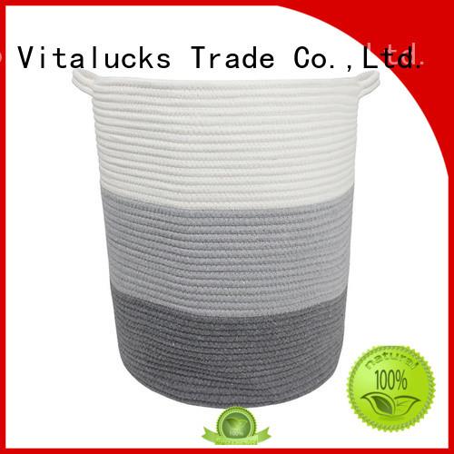 Vitalucks large storage basket with handles practical customizaition