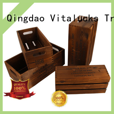 Vitalucks wooden crate box hot-sale good materials