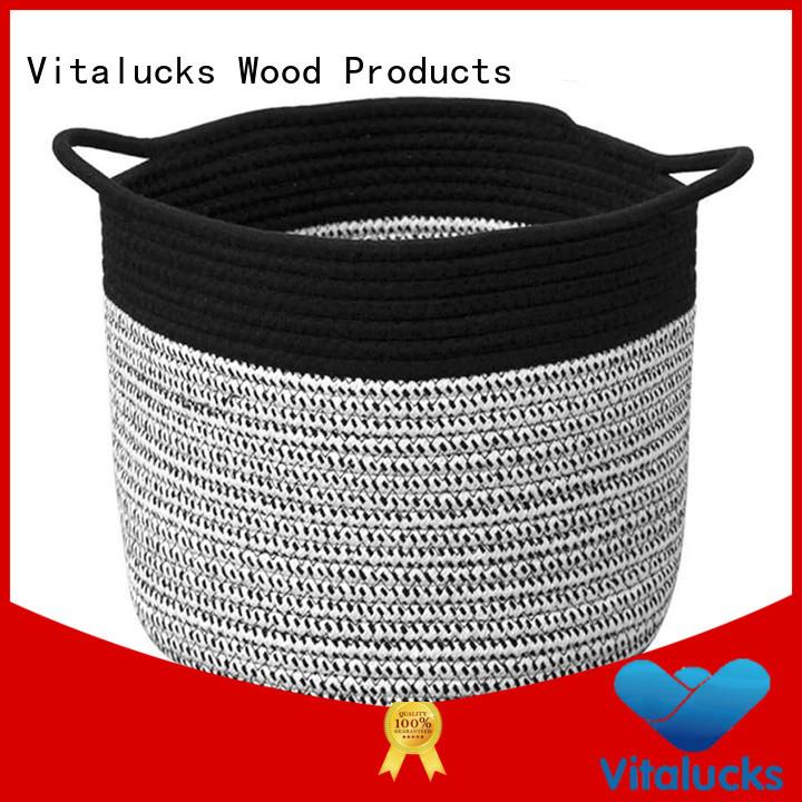 Vitalucks cotton rope basket practical manufacturing