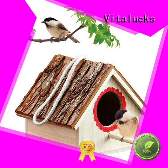Vitalucks latest wooden bird box oem&odm