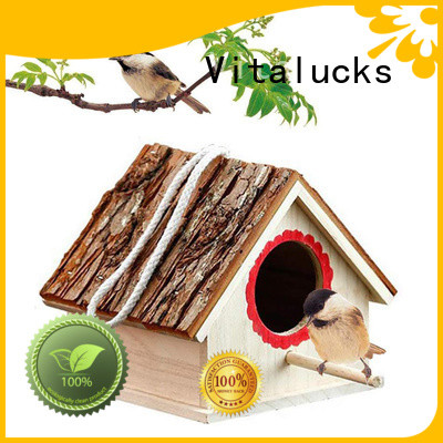 Vitalucks wholesale wooden bird box environmental friendly fast delivery