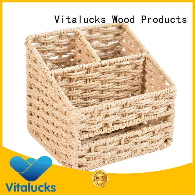 Vitalucks well-chosen material paper rope basket quality assured production