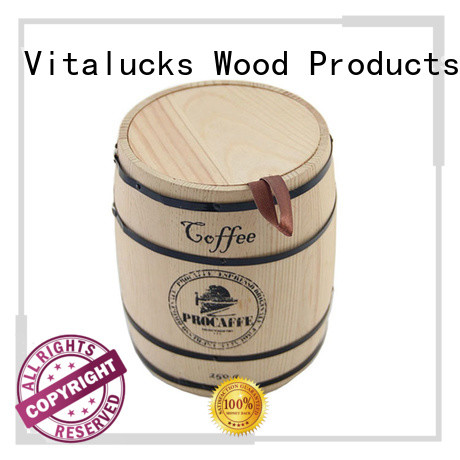 Vitalucks popular wooden tea canister manufacturing fast delivery