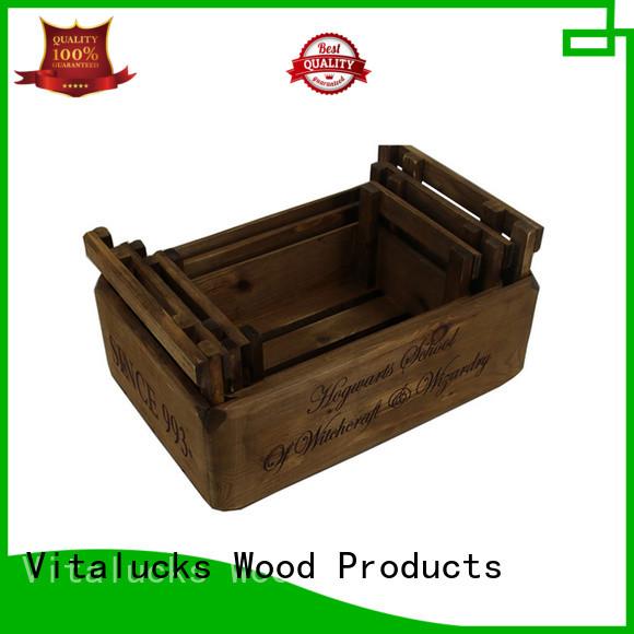 Vitalucks solid wooden gift crate hot-sale best factory price
