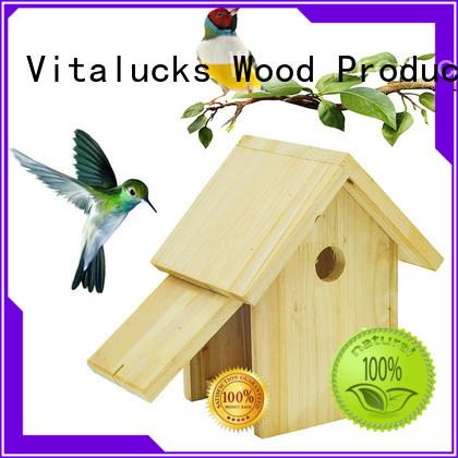 Vitalucks wooden bird house oem&odm bulk supply