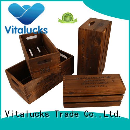 Vitalucks advanced production technology decorative wooden crates high quality good materials