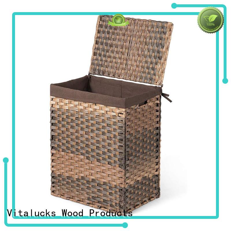 Vitalucks decorative plastic storage boxes with lids solid wood oem&odm