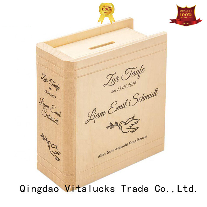 Vitalucks custom personalised wooden box favorable price