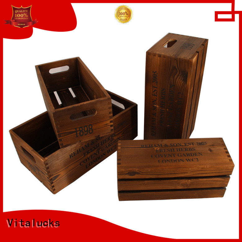 unfinishedwine bottle wood box high-quality at discount