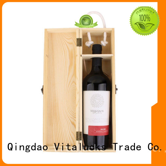 Vitalucks professional wooden wine box fast delivery large storage