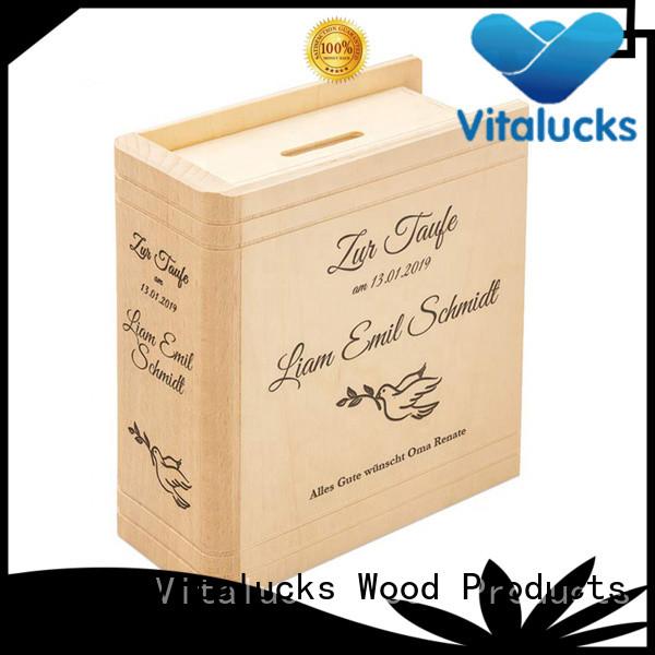 Vitalucks custom custom wooden boxes favorable price