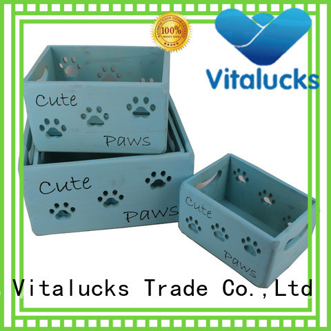 Vitalucks customized unfinished wooden craft boxes top-selling fast delivery