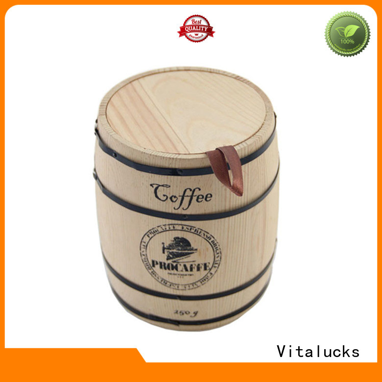 popular wooden coffee canister multi-functional bulk supply
