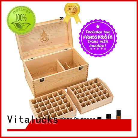 Vitalucks essential oil wood box bulk supply factory price