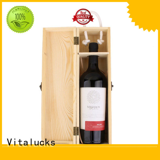 professional wine bottle wood box favorable quality for gift