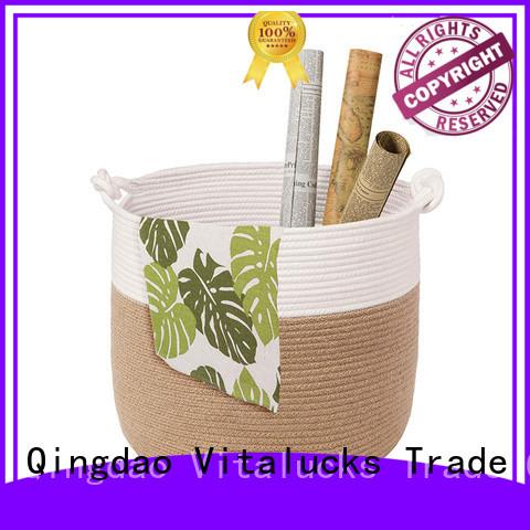 Vitalucks custom rope storage basket practical manufacturing