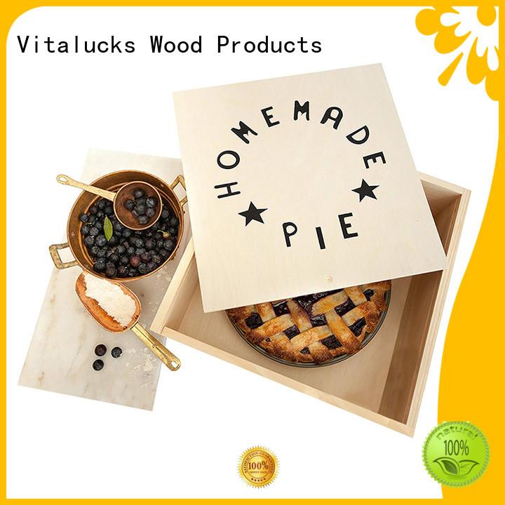 Vitalucks customized personalised wooden box favorable price latest design