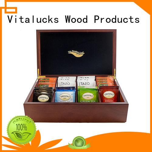 Vitalucks wooden tea chest chic design manufacturing