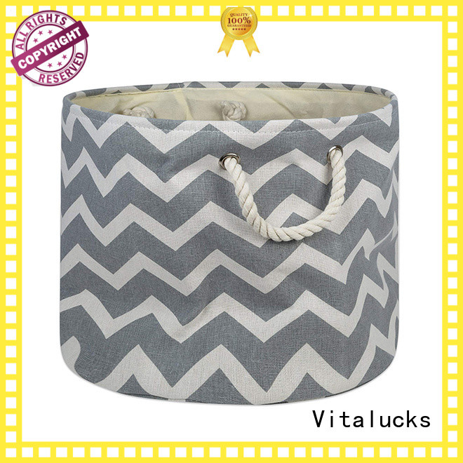 Vitalucks collapsible fabric storage baskets multi-functional chic look