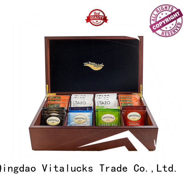 Vitalucks mutl-functional wooden tea chest factory price fast delivery