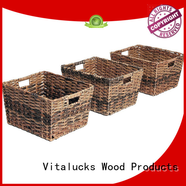 Vitalucks best basket solid wood customization