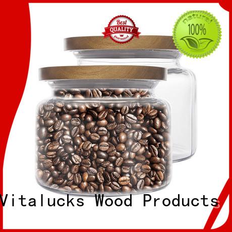 Vitalucks best price weck jars wooden lids manufacturing