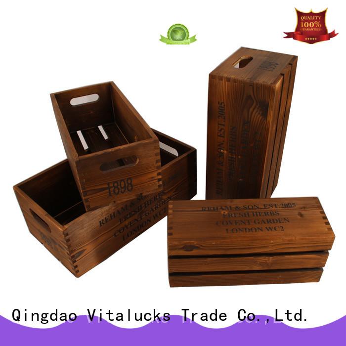 Vitalucks fine workmanship wooden crate high quality