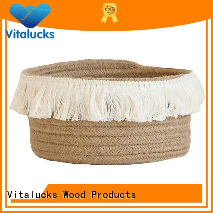 Vitalucks custom cotton rope basket practical best price