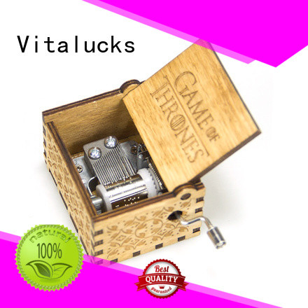 Vitalucks wooden music box wholesale competitive price