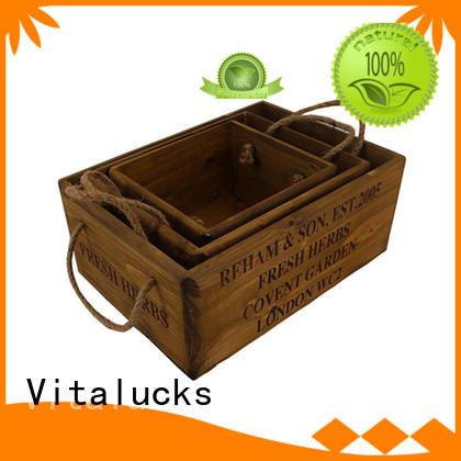Vitalucks fine workmanship wooden wine crates hot-sale best factory price