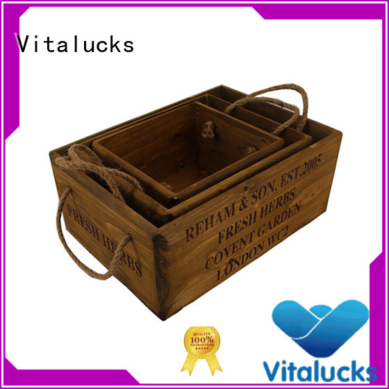 solid wooden gift crate popular