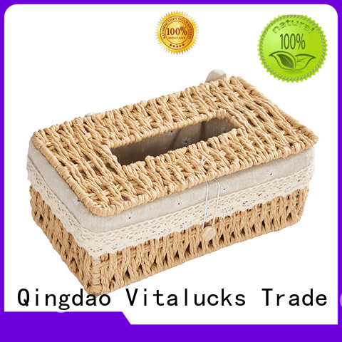 Vitalucks wholesale lined storage baskets for shelves favorable price manufacturing