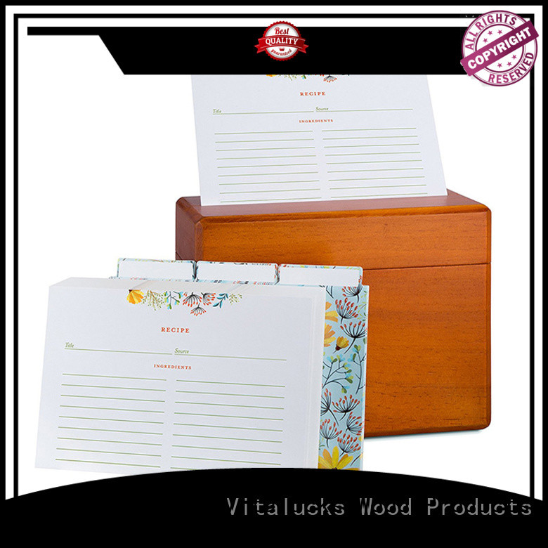 Vitalucks customized small wooden gift boxes quality assured