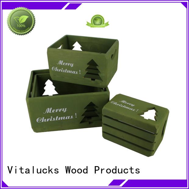 Vitalucks wooden wine crates high quality